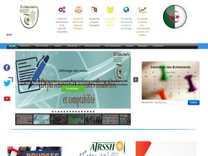 Université Mohamed Ben Ahmed d'Oran 2's Website Screenshot