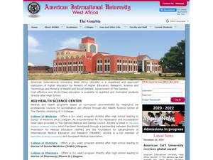 American International University West Africa's Website Screenshot
