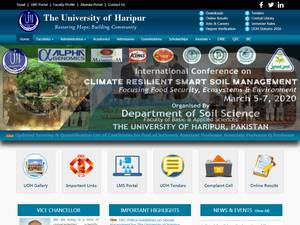 University of Haripur's Website Screenshot