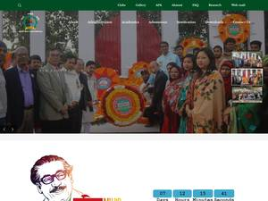 Rangamati University of Science and Technology's Website Screenshot