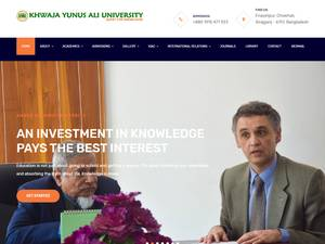 Khwaja Yunus Ali University's Website Screenshot