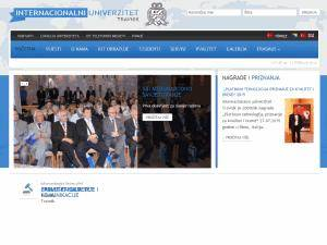 Internacionalni univerzitet Travnik's Website Screenshot