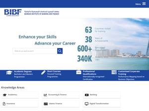 Bahrain Institute for Banking and Finance's Website Screenshot