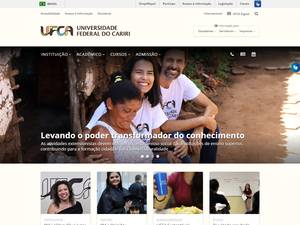 Universidade Federal do Cariri's Website Screenshot