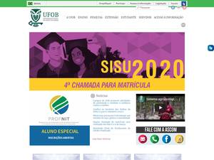 Universidade Federal do Oeste da Bahia's Website Screenshot