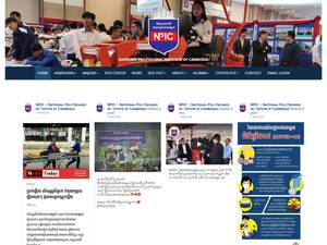 National Polytechnic Institute of Cambodia's Website Screenshot