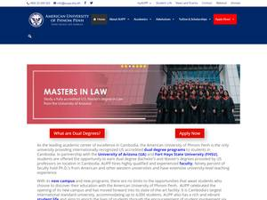 American University of Phnom Penh's Website Screenshot