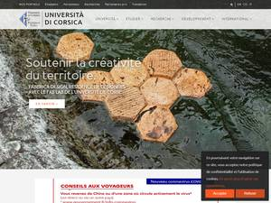 Université de Corse Pascal Paoli's Website Screenshot