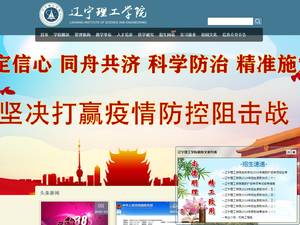 Liaoning Institute of Science and Engineering's Website Screenshot