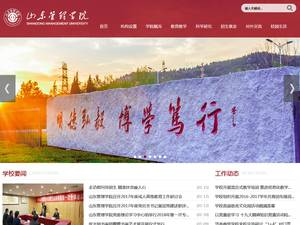 Shandong Management University's Website Screenshot