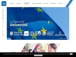 Université de la Rochelle's Website Screenshot