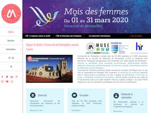 Université de Montpellier's Website Screenshot