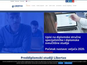 Sveucilište Libertas's Website Screenshot