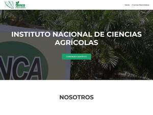 Instituto Nacional de Ciencias Agrícolas's Website Screenshot