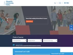 Neapolis University Paphos's Website Screenshot