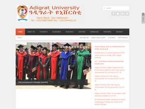 Adigrat University's Website Screenshot
