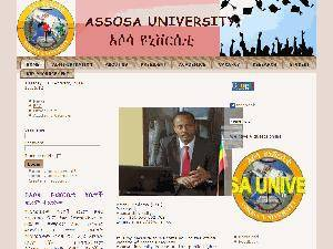 Assosa University's Website Screenshot