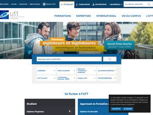 University of Technology of Troyes Screenshot