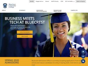 BlueCrest College's Website Screenshot