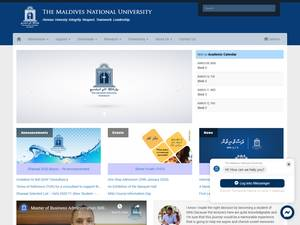 The Maldives National University's Website Screenshot