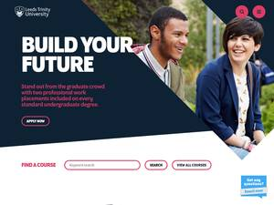 Leeds Trinity University's Website Screenshot
