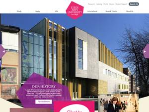 Leeds Arts University's Website Screenshot