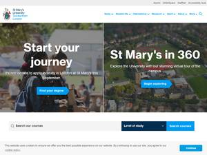 St Mary's University, Twickenham's Website Screenshot