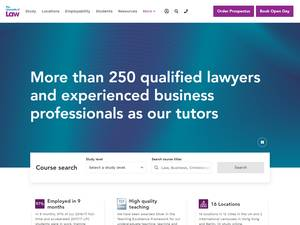 The University of Law's Website Screenshot