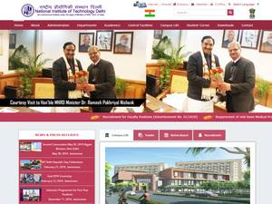 National Institute of Technology, Delhi's Website Screenshot