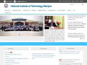 National Institute of Technology, Manipur's Website Screenshot