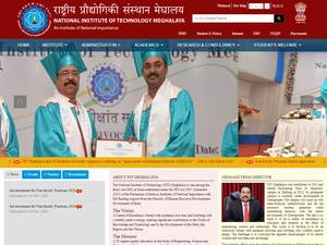 National Institute of Technology, Meghalaya's Website Screenshot