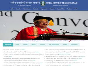 National Institute of Technology, Nagaland's Website Screenshot