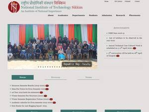 National Institute of Technology, Sikkim's Website Screenshot