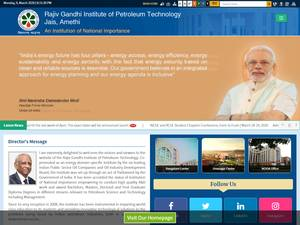 Rajiv Gandhi Institute of Petroleum Technology's Website Screenshot
