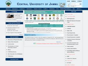 Central University of Jammu's Website Screenshot
