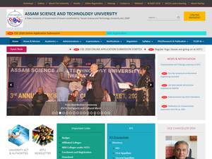 Assam Science and Technology University's Website Screenshot