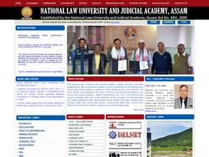 National Law University and Judicial Academy's Website Screenshot