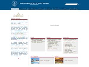 Sri Sathya Sai Institute of Higher Learning's Website Screenshot