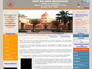 Nava Nalanda Mahavihara's Website Screenshot