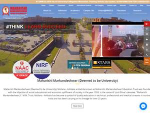Maharishi Markandeshwar University, Mullana's Website Screenshot
