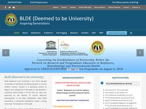 BLDE University's Website Screenshot