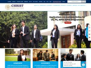 Christ University's Website Screenshot