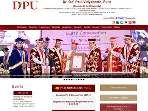 Dr. D.Y. Patil Vidyapeeth's Website Screenshot