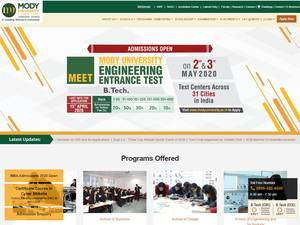 Mody University of Science and Technology Screenshot