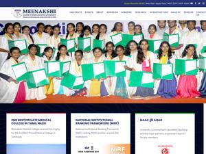Meenakshi Academy of Higher Education and Research Screenshot