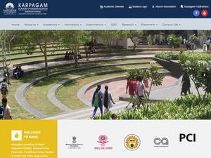 Karpagam Academy of Higher Education's Website Screenshot