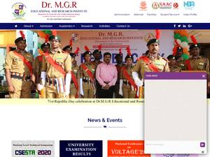 Dr. M.G.R. Educational and Research Institute's Website Screenshot