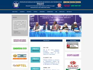 Ponnaiyan Ramajayam Institute of Science and Technology's Website Screenshot