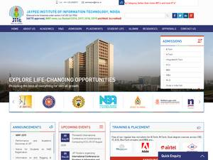 Jaypee Institute of Information Technology Screenshot