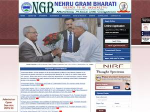 Nehru Gram Bharati Vishwavidyalaya's Website Screenshot